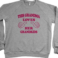 This Grandma Loves Her Grandkids-Unisex Heather Grey Sweatshirt