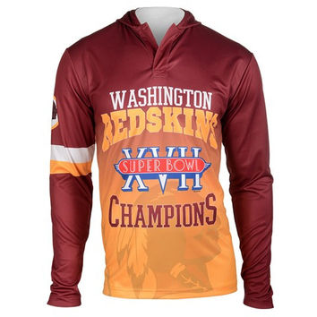 Washington Redskins Super Bowl XVII NFL Champions Poly Hoody Tee