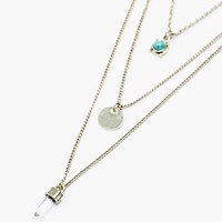 Crystal Layering Necklaces in Gold - Urban Outfitters