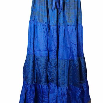 Mogul Womens Maxi Skirts Vintage Sari Festival Bohemian Gypsy Flared Peasant Skirts: Amazon.ca: Clothing & Accessories