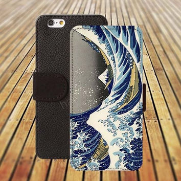 iphone 5 5s case Sea case Wave iphone 4/ 4s iPhone 6 6 Plus iphone 5C Wallet Case , iPhone 5 Case, Cover, Cases colorful pattern L063