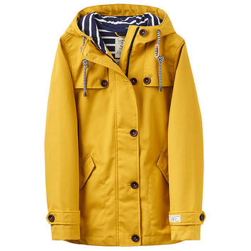 Joules Right as Rain Coast Waterproof Jacket | Antique Gold at John Lewis