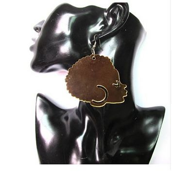 Ayanna African Afro Shape Acrylic Earrings | Ethnic Earring