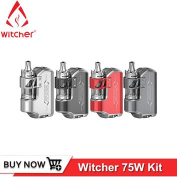 Original Rofvape Witcher box mod vape kit 75W 18650 Electronic Cigarette Kit All-In-One Design with Submerged Atomizer 5.5ml