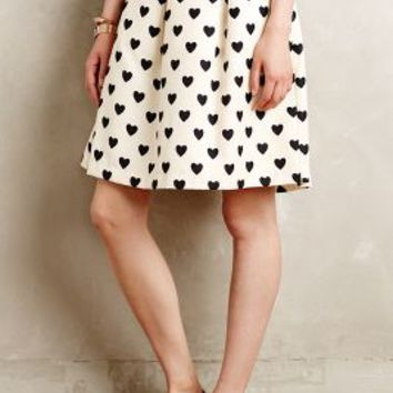 Petite Hearts Skirt by Essentiel Antwerp Black Motif
