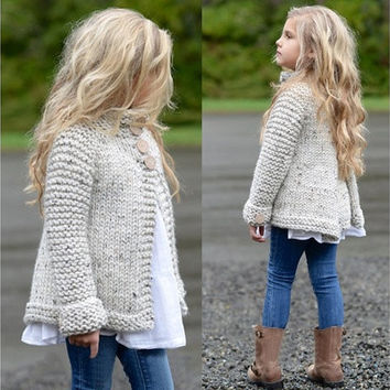 Casual Autumn&winter Single-Breasted Cardigan Outerwear Girl's Fashion Stand Collar Knit Sweater Coat [8834013132]