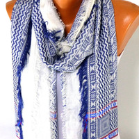 Scarf, Shawl, Cotton Scarf, fringed scarf, Fall Fashion Accessories, Thin cotton fabric, Women's fashion Accessories, Gift for Christmas
