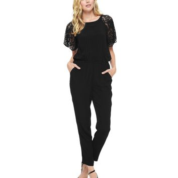 Lace Trim Jumpsuit by Juicy Couture