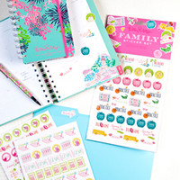Lilly Pulitzer Agenda Stickers - Academic