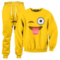 Emoji Tongue Out Tracksuit