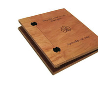 Custom Anniversary or Wedding Album - Scrapbook Woodburnt With Your Design