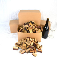 """BBQ BOX - """"Wine Soaked Oak Barrel Chunks"""" from premiere Napa Wine Barrels - gift packaged- 100% recycled"""