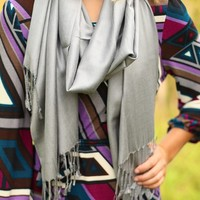 Sweet Simplicity Scarf in Grey