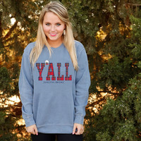 Y'all Sweatshirt in Blue Jean by Jadelynn Brooke