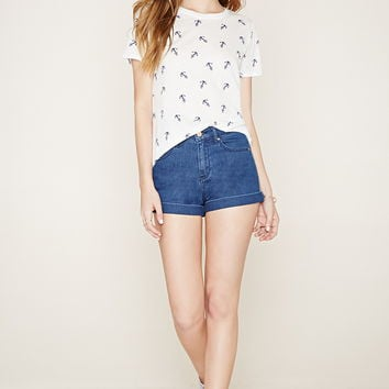 Anchor Print Graphic Tee | Forever 21 - 2000223412