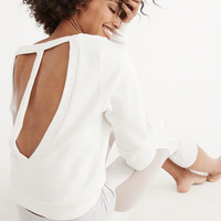 Womens Strappy Back Crew Sweatshirt | Womens Tops | Abercrombie.com
