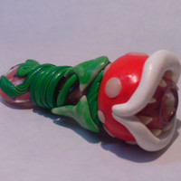 Cute Glowing Piranha Plant Pipe - Super Mario - Jimwillie Miniatures