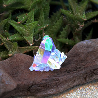 Angel Aura Quartz Cluster // Wiccan Altar Supplies // Opal Quartz Crystal Cluster Specimen // Wicca Altar Supply // Rainbow Aura Quartz AQ16