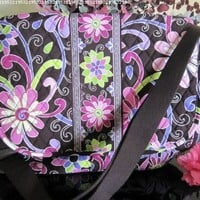 "VERA BRADLEY ""MESSENGER BAG"" in the VERY BEAUTIFUL and COLORFUL ""PURPLE PUNCH"" Pattern. Floral Crossbody bag with MANY USES. BRAND NEW with ORIGINAL TAGS Attached!"