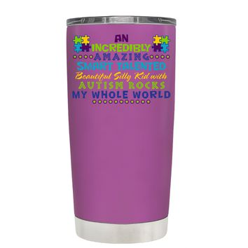 TREK An Amazing Smart Talented Kid with Autism on Light Violet 20 oz Tumbler Cup