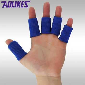 DCCKWQA HANDISE Sports Finger Splint Guard Bands Bandage Support Wrap Basketball Volleyball Football Fingerstall Sleeve Caps Protector