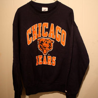 VINTAGE chicago Bears crew neck sweatshirt size LARGE