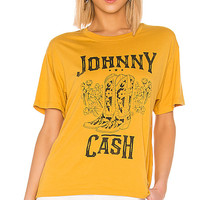 DAYDREAMER Johnny Cash Boots Tee in Golden | REVOLVE