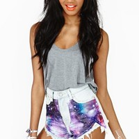 Space Out Cutoff Shorts