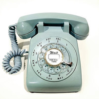 WORKING- Aqua Blue Rotary Phone