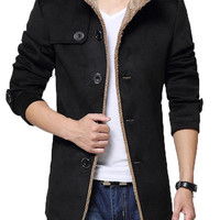 Men Casual Slim Fit Trench Coat