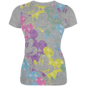 Mickey Mouse - Pastel Faces Juniors T-Shirt