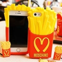 MOSCHINO McDonald's French Fries - Silicone Case for IPhone 4 & 5 - Sugar Sugar Boutique
