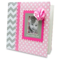 "AD Sutton ""Our Little Girl"" Photo Album in Pink/Grey"