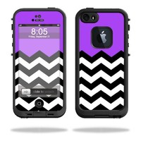 Mightyskins Protective Vinyl Skin Decal Cover for LifeProof iPhone 5/5s/SE Case fre Case wrap sticker skins Purple Chevron