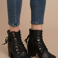 MIA Shoes Anamaria Combat Ankle Booties