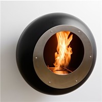 Cocoon Fireplaces Vellum Black Fireplace - Style # cfvbvellum, Modern Fireplace - Contemporary Fireplace - Fireplace Accessories - Stainless Steel Fireplace | SwitchModern.com