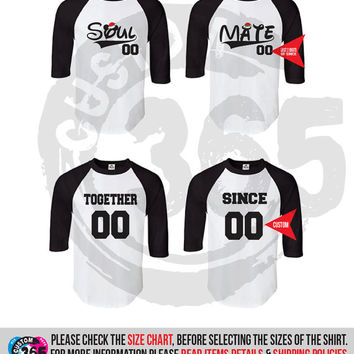 Soul Mate together since inspired Shirts SET OF 2 (Straight Fit Raglan)