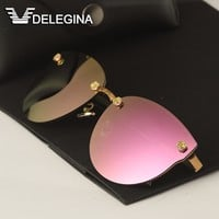 DELEGINA Ladies Luxury Polarized Sunglasses Women  Sun Glasses Brand Designer Shades