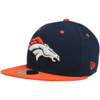 New Era Denver Broncos Two-Tone 59FIFTY Fitted Hat - Navy Blue/Orange