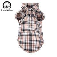 Luxury Classic Plaid Cute Summer T-Shirt For Small Medium Dogs and Cats