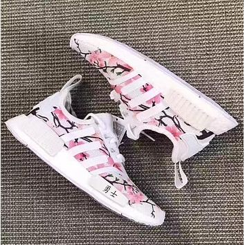 simpleclothesv £º Adidas NMD Boost Women Cherry Blossoms Running Sport Casual Shoes Sne