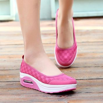 Platform shoes woman 2018 hot summer mesh breathable women casual shoes