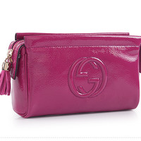 Gucci Soho Patent Leather Makeup Bag