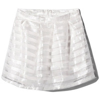ROMWE | Leisured White Striped Skirt, The Latest Street Fashion