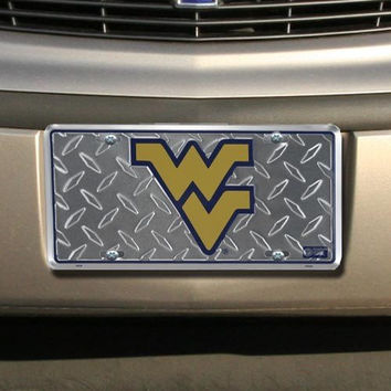 (6x12) West Virginia University Diamond Cut NCAA License Plate