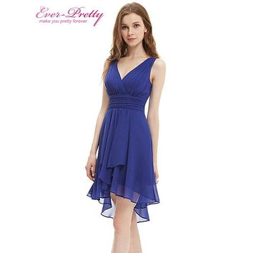 [Clearance Sale] Bridesmaid Dresses Ever Pretty HE03644 Summer Style Ruffles Sexy V-neck Chiffon Bridesmaid Dress Plus Size