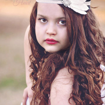 Feather Headband - White Feather Headband - Felt Headband - Boho Headband - Felt Feather - White Boho Headband - Boho Chic - Bridal Headband