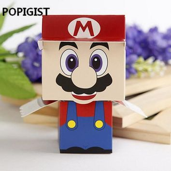 Super Mario party nes switch Birthday Party package Super Marie Bros princess 25pcs Bride 25pcs Groom wedding favors  candy box for wedding gifts AT_80_8