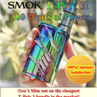 (Last one in stock) SMOK T-Priv 3 300W TC Kit with TFV12 Prince (2 18650) Battery option