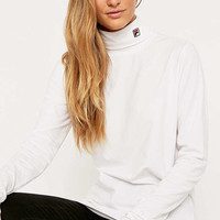 Fila White Turtleneck Top - Urban Outfitters